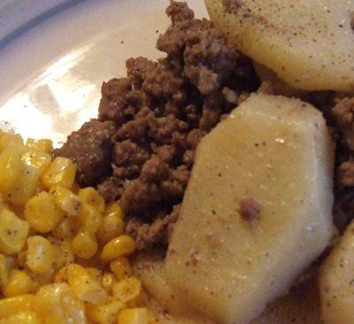 Country Hamburger and Potatoes