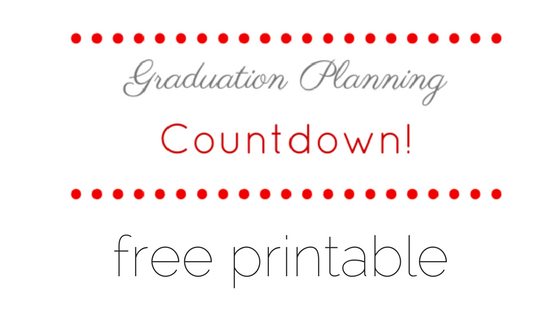 Free Printable Graduation Planning Countdown