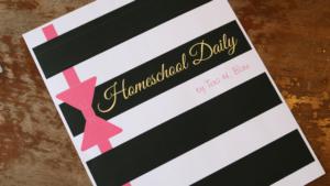 Tuxedo Homeschool Planner