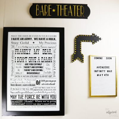 Movie Gallery Wall by The Inspired Damsel