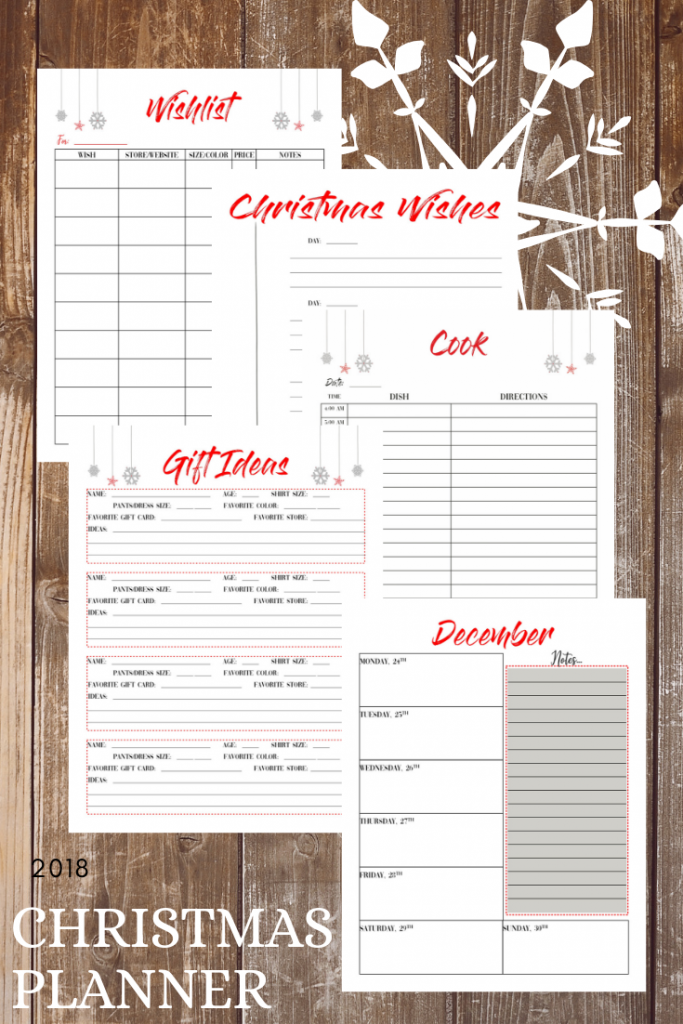 Christmas Planner to get you on your way to stress free and organized Merry Christmas