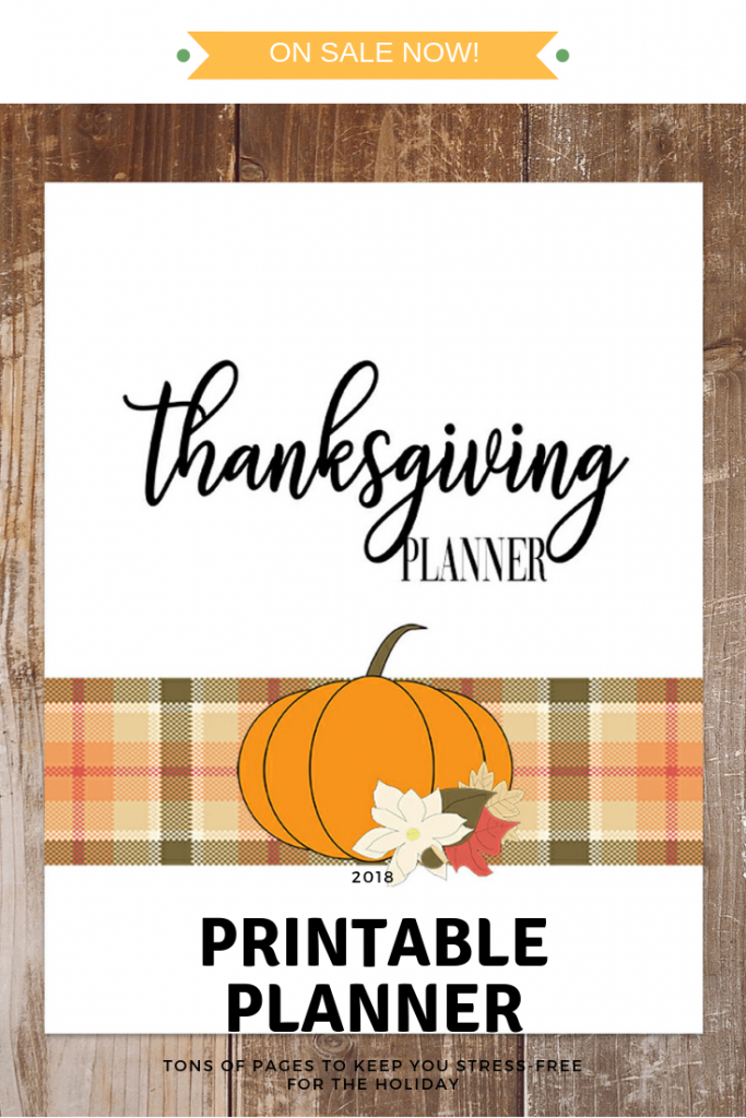 Thanksgiving is almost here! Let me help you stay stress-free and organized this holiay with my gorgeous 2018 Thanksgiving Planner
