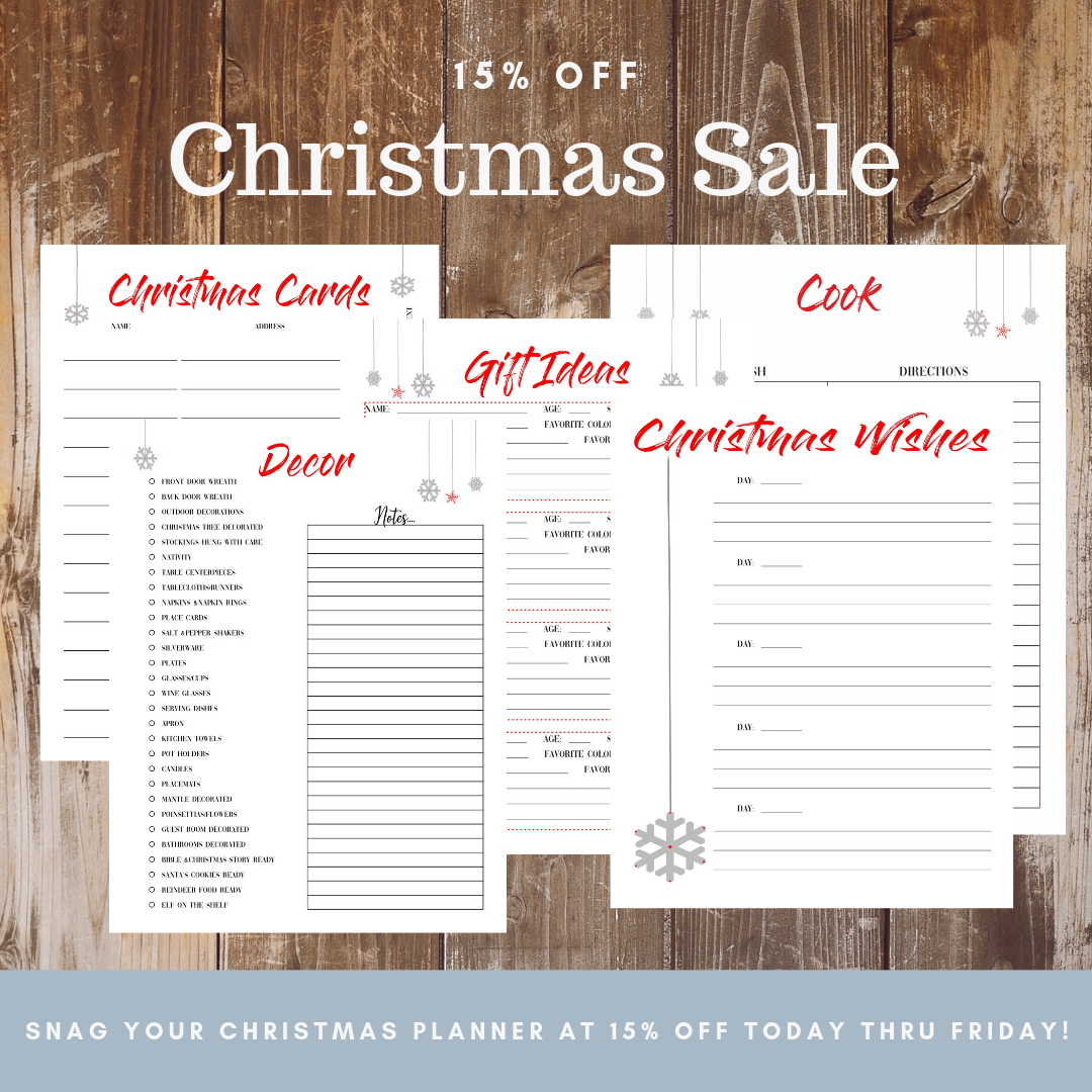 15% off Christmas Planner