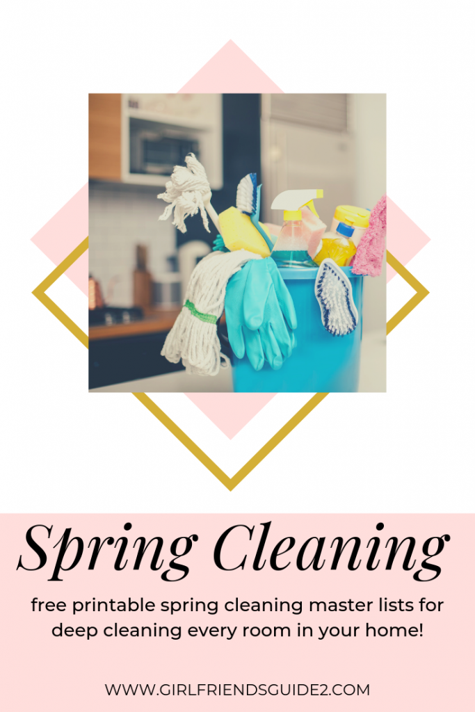 Free spring cleaning master list printable