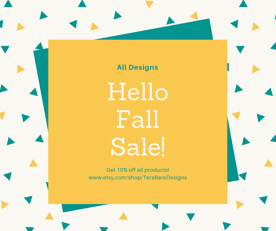 Hello Fall Sale with 10% off everything including homeschool planners, Senior Recognition Night Planner, Thanksgiving and Christmas Planners