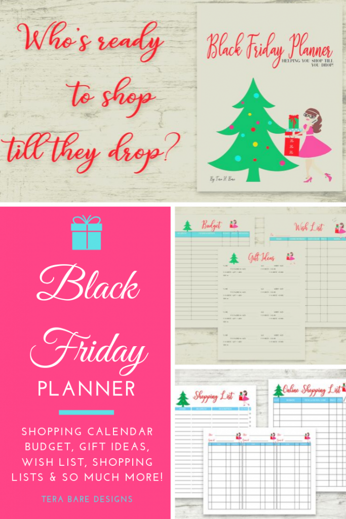 Stay on budget and organized when shopping this holiday season with this Black Friday Planner.  Great whether you shop at the store or online.