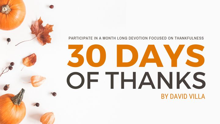 "Get Ready for Thanksgiving with ""30 Days of Thanks"""