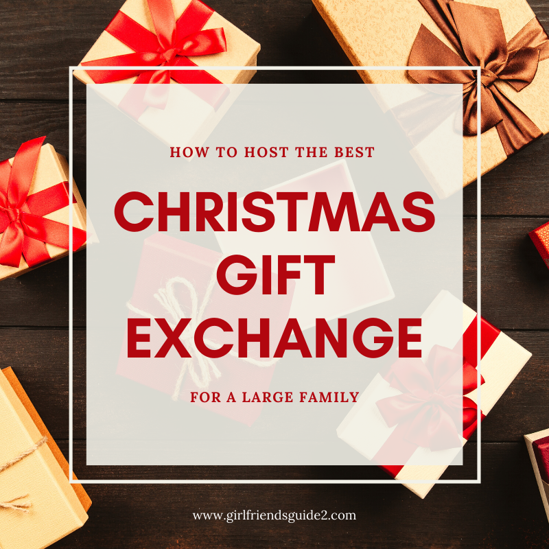 How to host the best Christmas Gift Exchange for a large family with free printable gift exchange wish list.