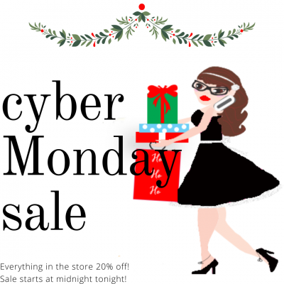 Cyber Monday Sale! Everything at Tera Bare Designs is 50% off!