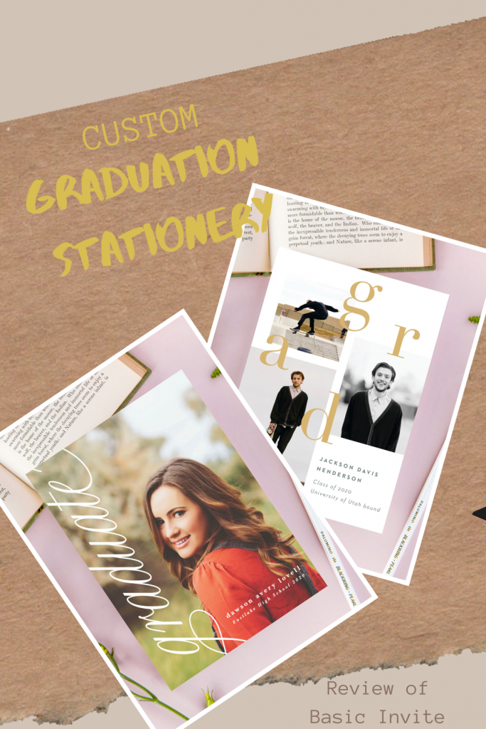 Custom Graduation Stationery a review of Basic Invite