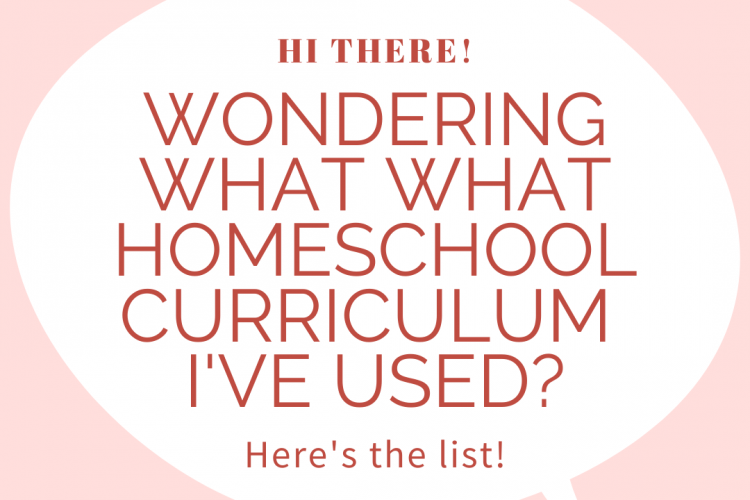 Wondering what homeschool curriculum I've used? Here's my master list.