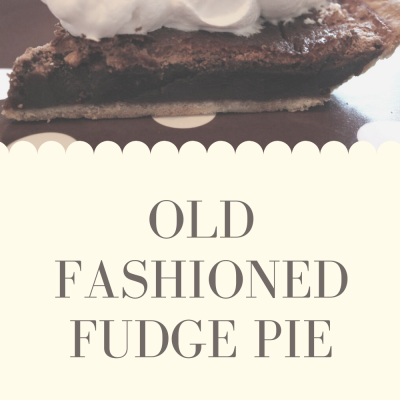 Old Fashioned Fudge Pie using Paula Deen's recipe. It tastes just like my grandmother's recipe and is super easy.