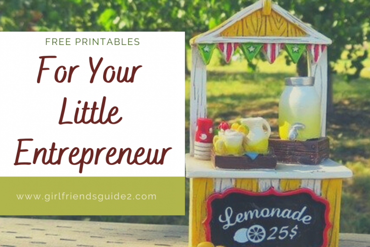 Free Printables to Encourage Your Little Entrepreneur