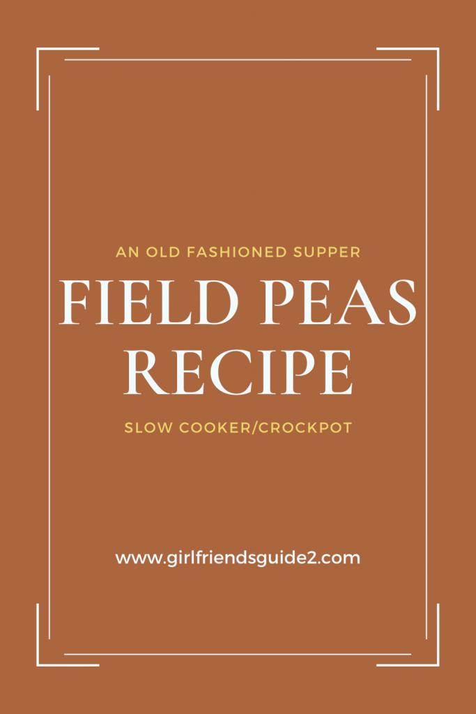 Field Peas recipe for crockpot