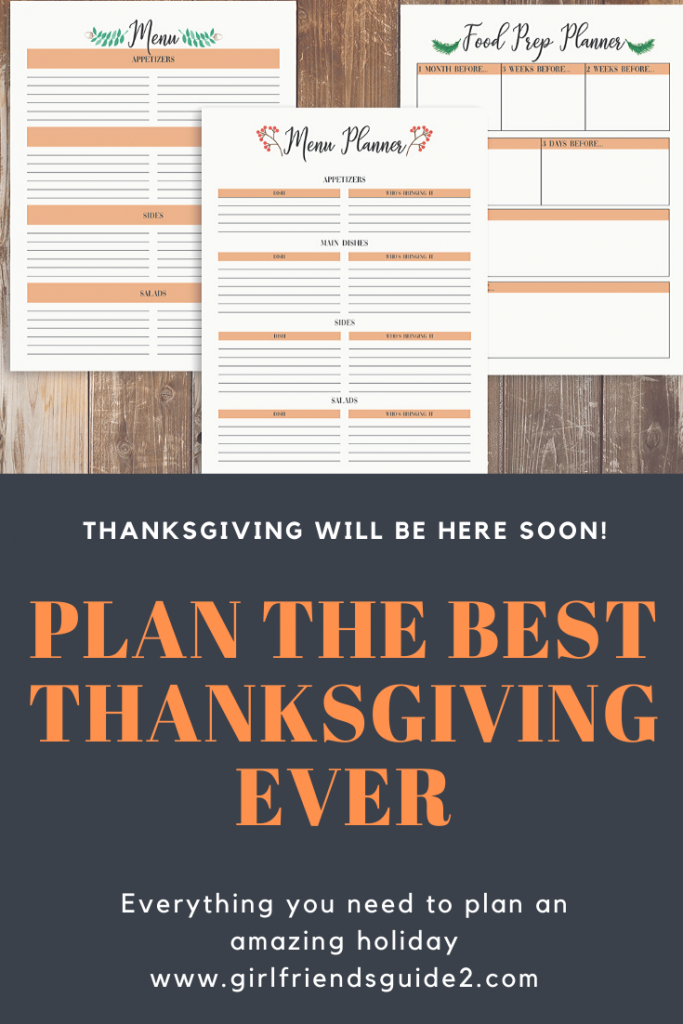 Pinterest Woodland Thanksgiving Planner