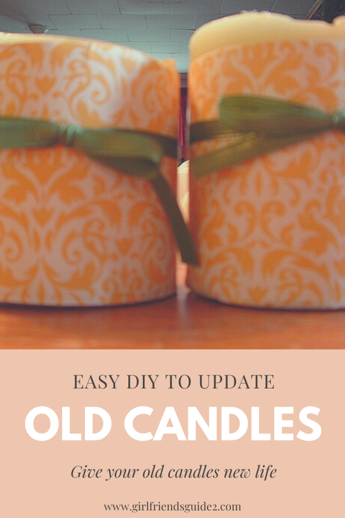 Easy DIY to Update Old Candles