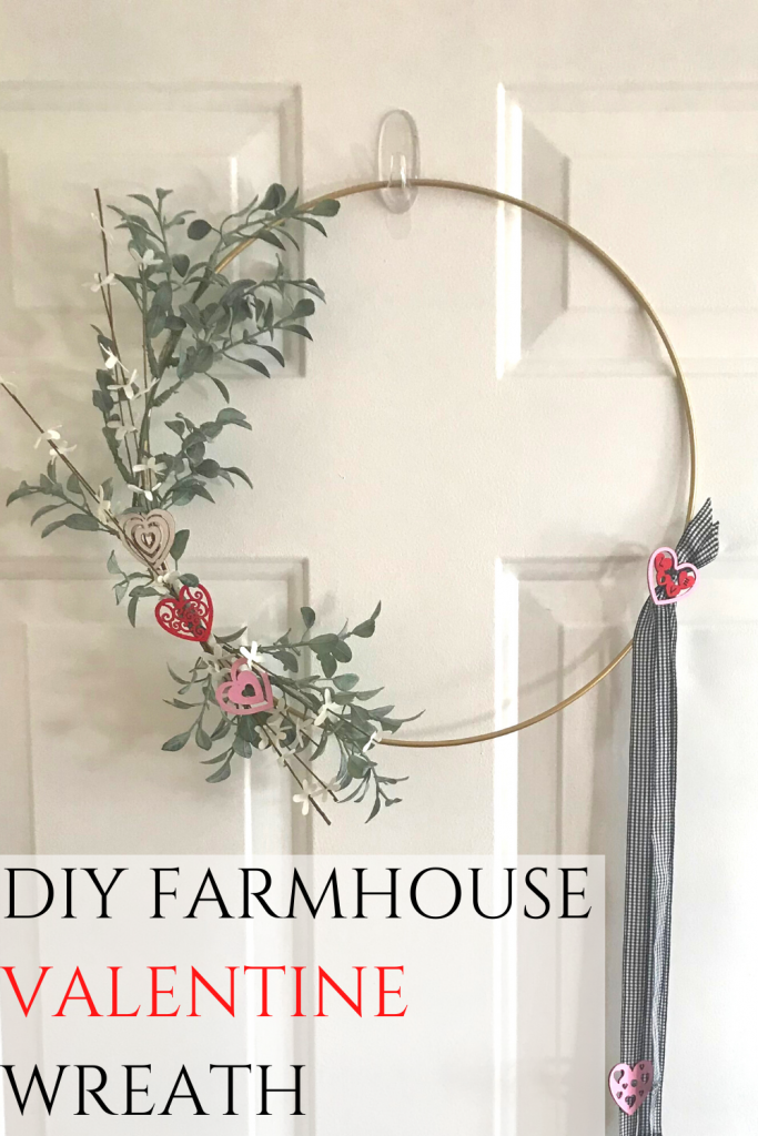 DIY Farmhouse Valentine Wreath