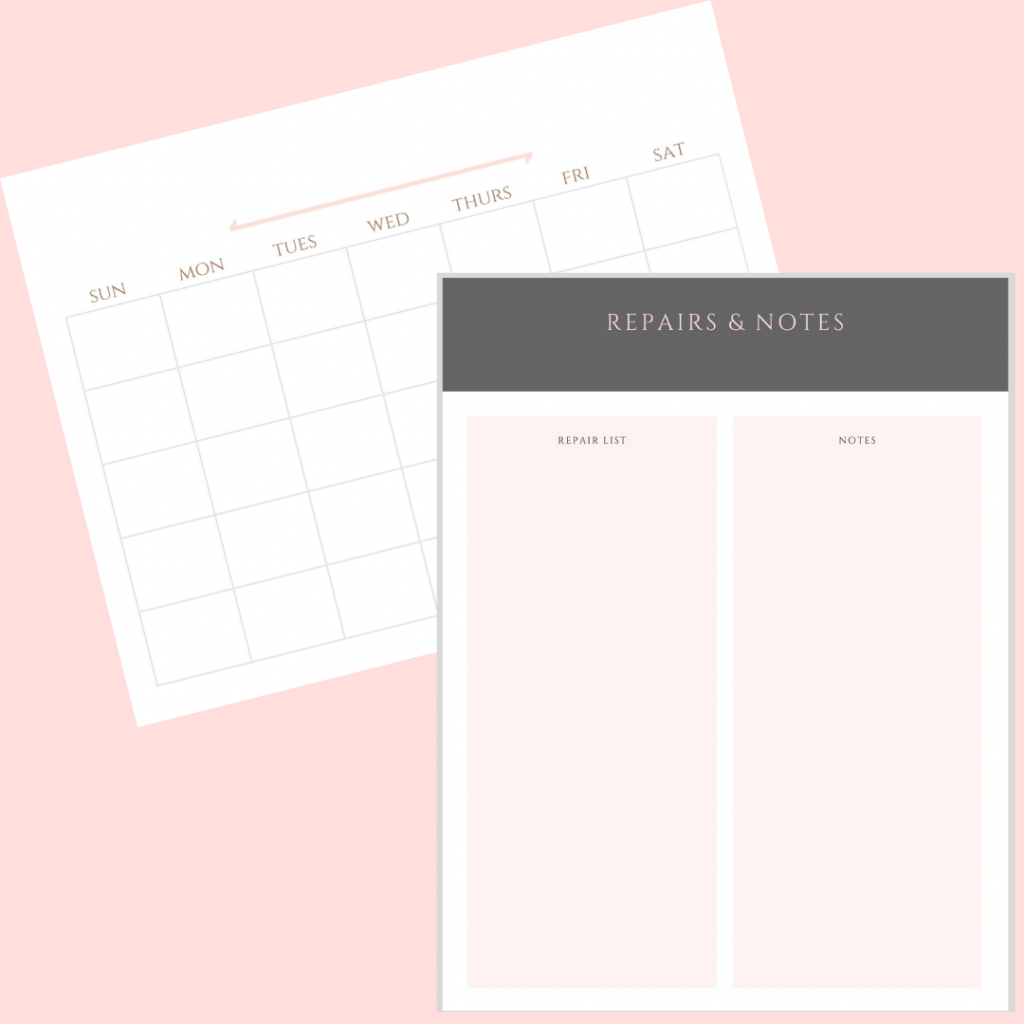 Spring Cleaning Planner with 15 pages of checklists to help you get your home sparkling clean!