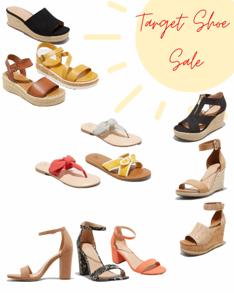 Target Spring Shoe Sale Just in Time for Mother's Day. From sandals, flip-flops, wedges and heels. Any of these shoes would be perfect for any mom. #springshoes, #mothersday #gift, #present #espadrilles #heels #summer #shoes