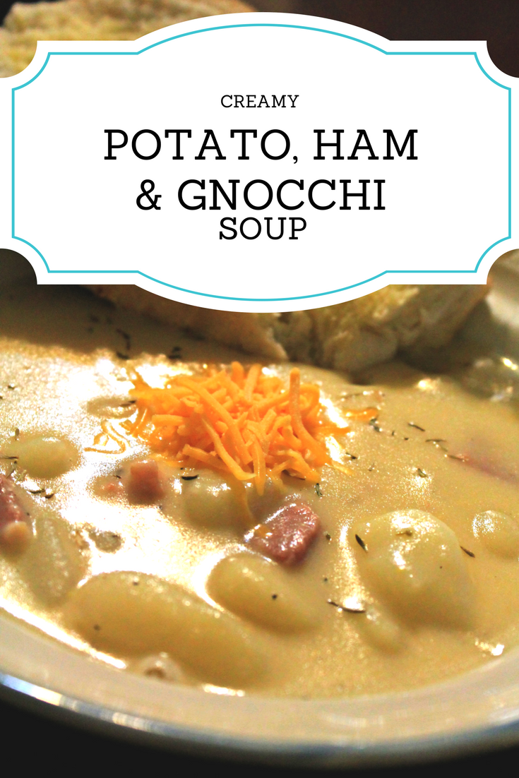 Creamy Potato, Gnocchi and Ham Soup