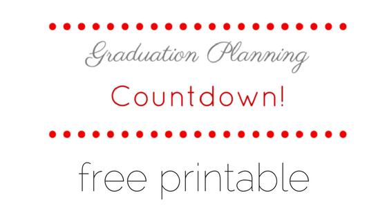 Free Printable Graduation Planning Countdown