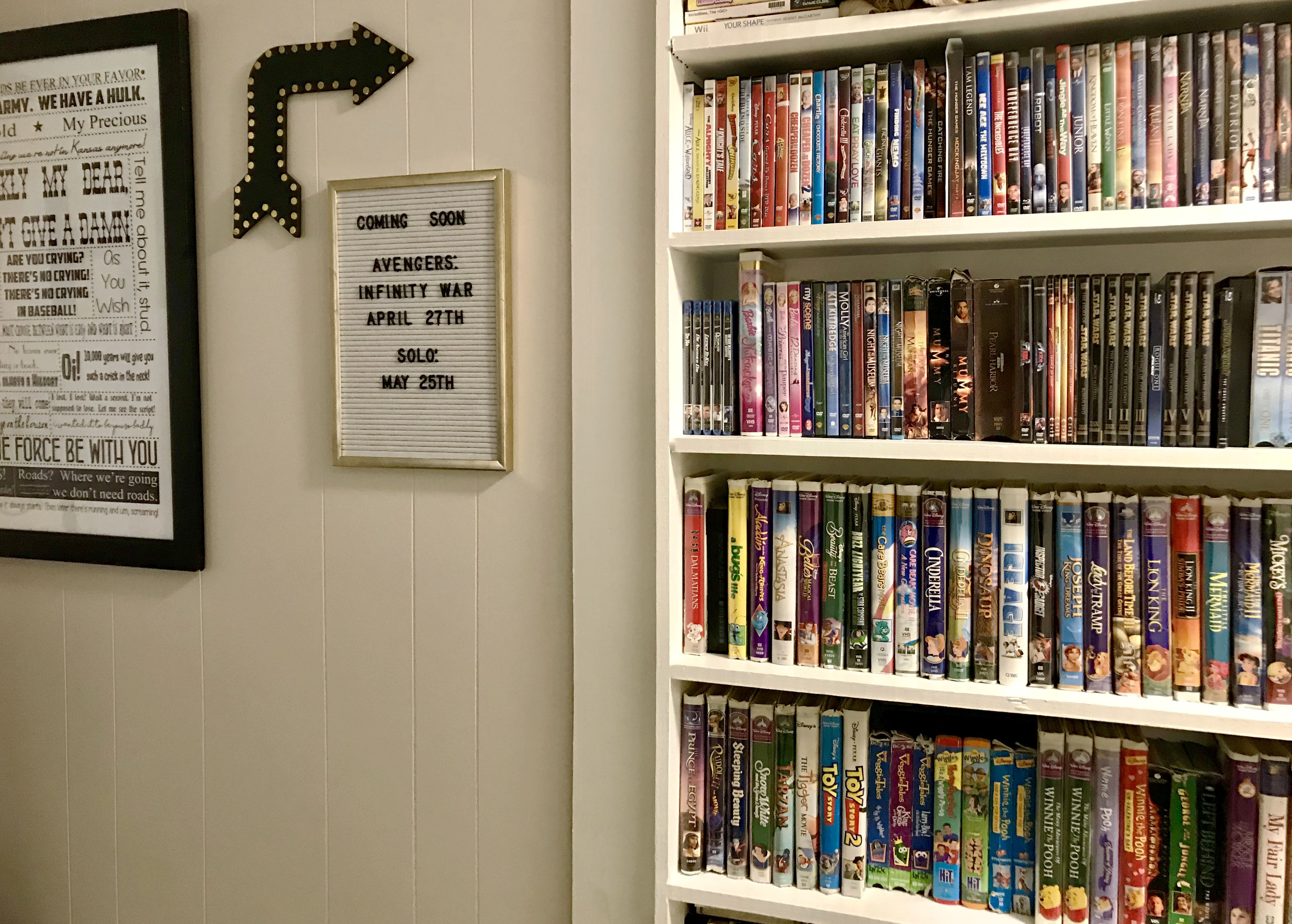 Movie Gallery Wall
