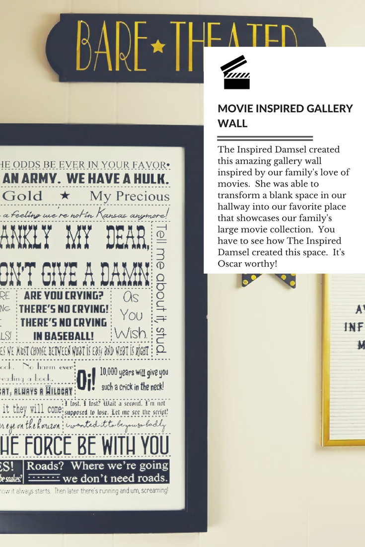 Movie Inspired Gallery Wall
