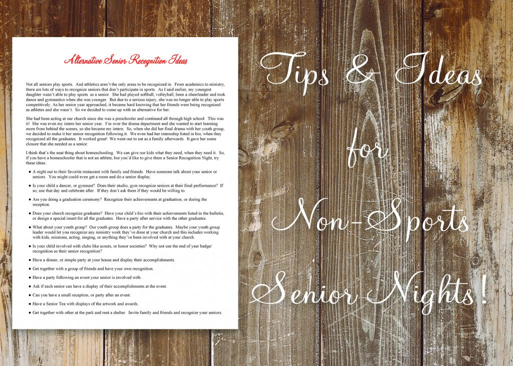 How to Plan a Homeschool Senior Recognition Night