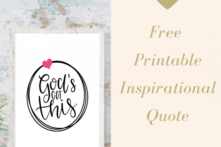 God's Got This Free Printable Wall Quote