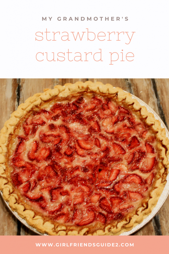 My Grandmother's Strawberry Custard Pie.  An old-fashioned and easy to make pie recipe that great for spring.