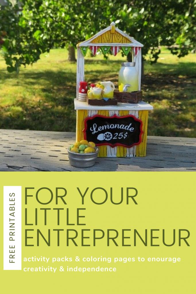 Free Printables to Encourage Your Little Entrepreneur