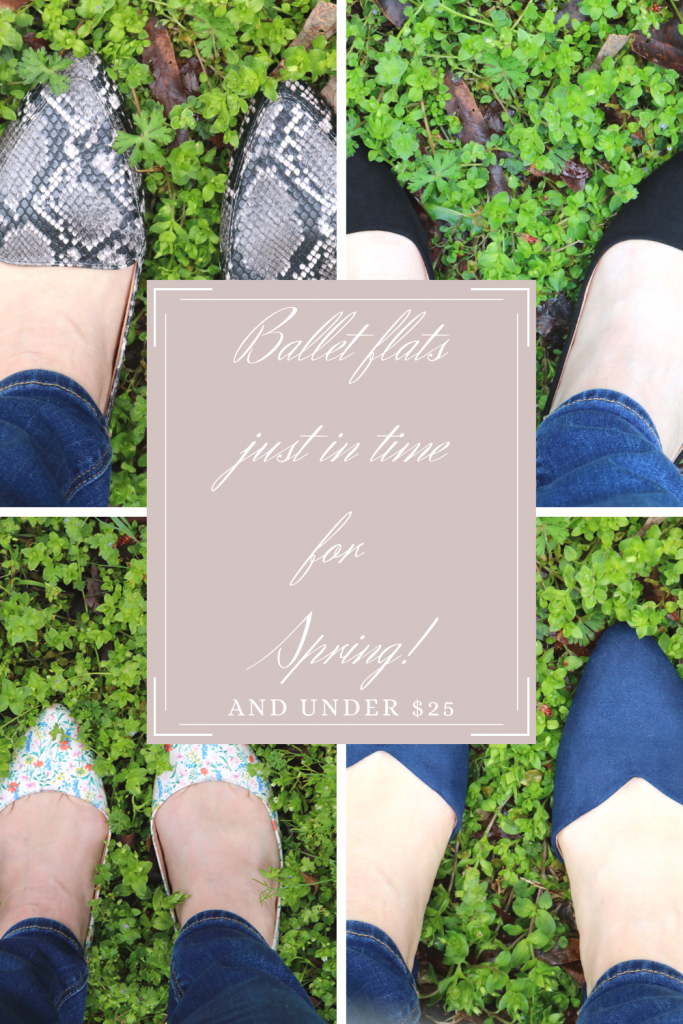 Ballet flats for spring and under $25