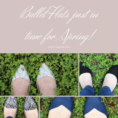 Ballet flats just in time for spring under $25