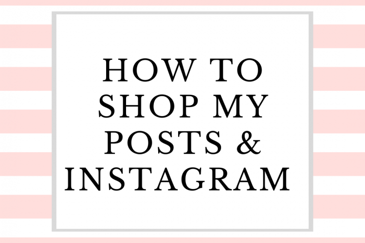 How to Shop my posts and instagram
