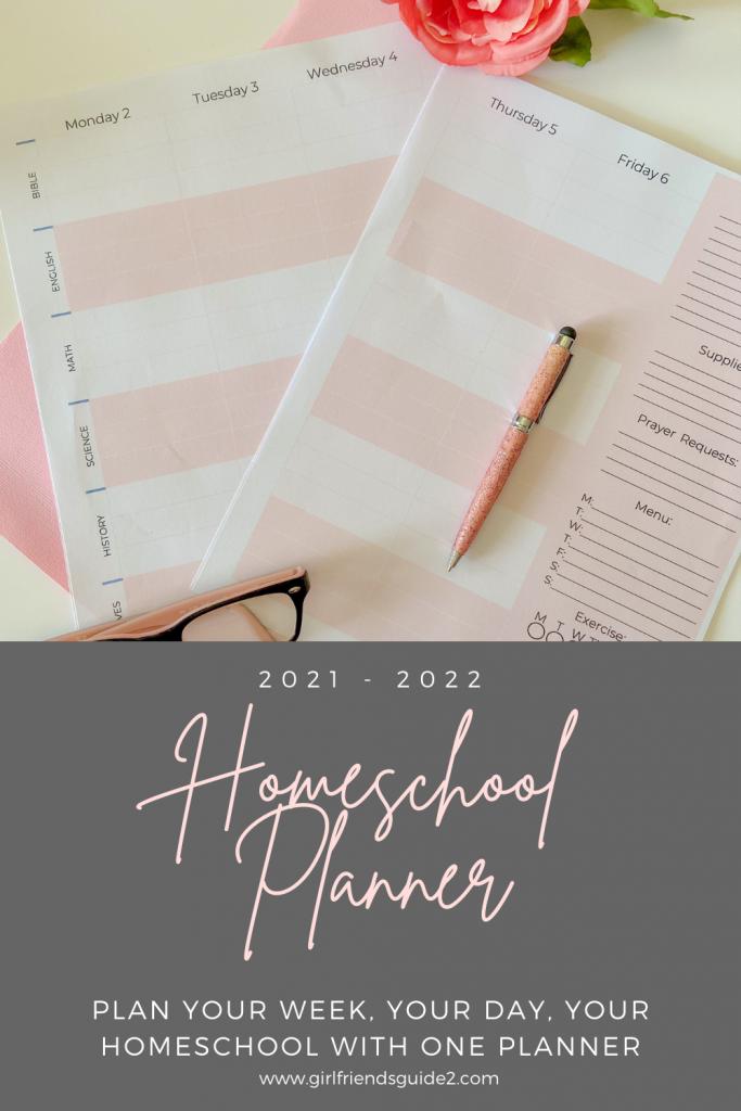 2021 Weekly Homeschool Planner