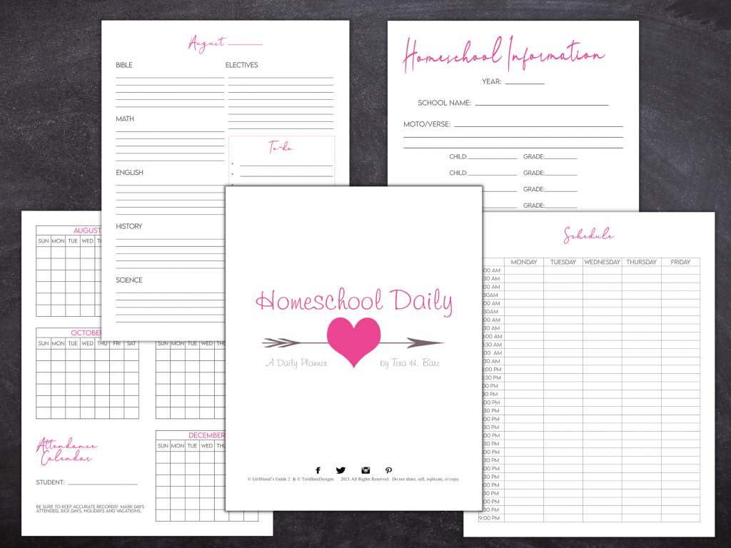 Gorgeous and Minimalist Daily Homeschool Planner On Sale Now!