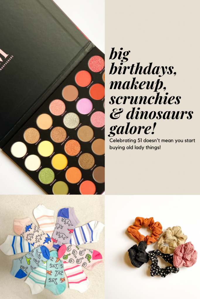 Being over 50 doesn't mean you give up who you are start buying old lady things. Here's some of the things I'm trying from socks to makeup to new bras.