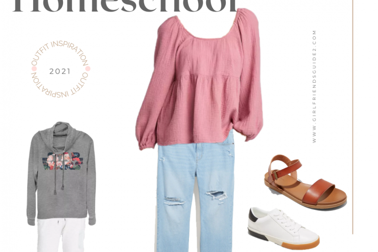 Cute and affordable outfit ideas for homeschool moms.