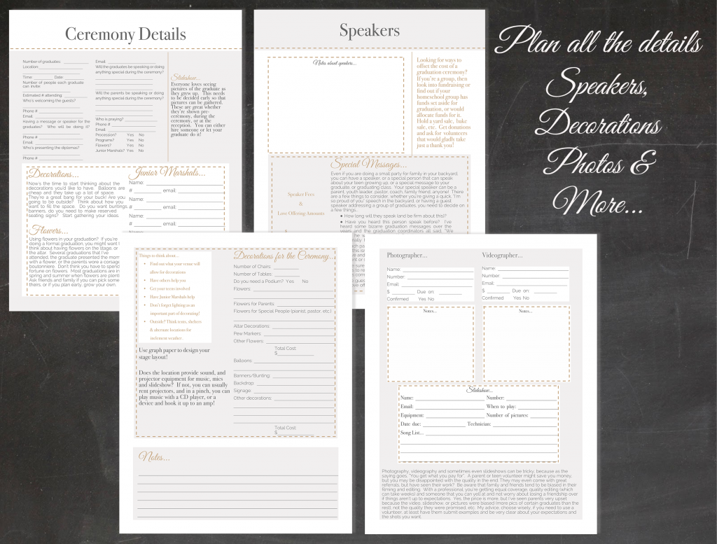 How to plan your own homeschool graduation, reception or party