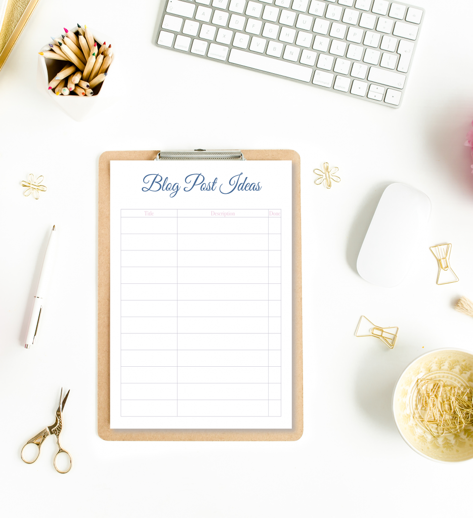 Watercolor Minimalist Blog Planner That's Simple and Easy to Use