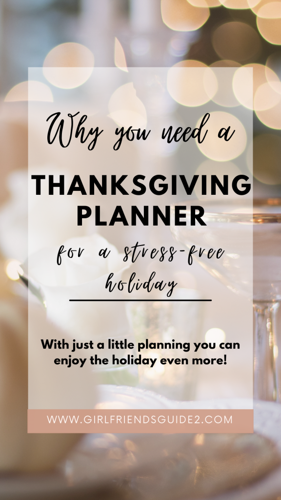 Why you need a Thanksgiving planner